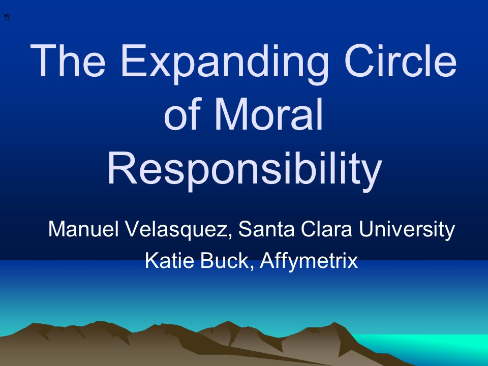 * * 0 Moral Responsibility Two Meanings: –Obligation or Duty –Culpability: Being to blame for an injury Culpability: Agent is morally responsible for an injury when: –Agent caused it –Agent knew it –Agent could have prevented it