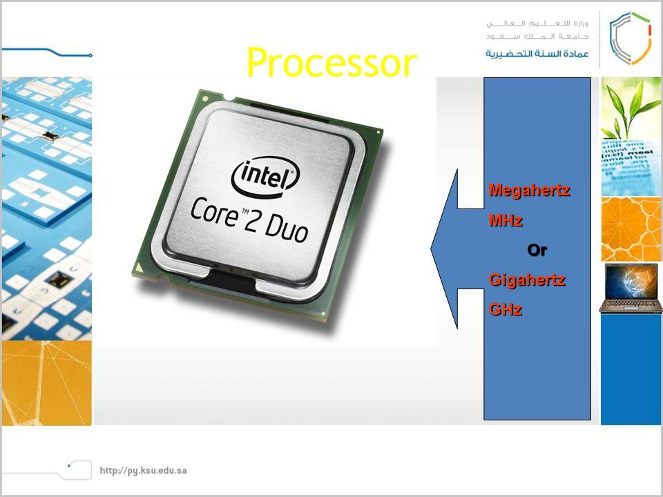 Processor MegahertzMHzOrGigahertzGHz
