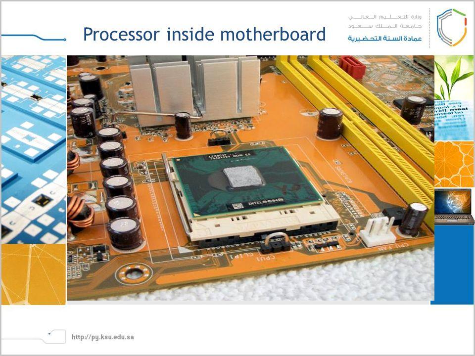 Processor inside motherboard