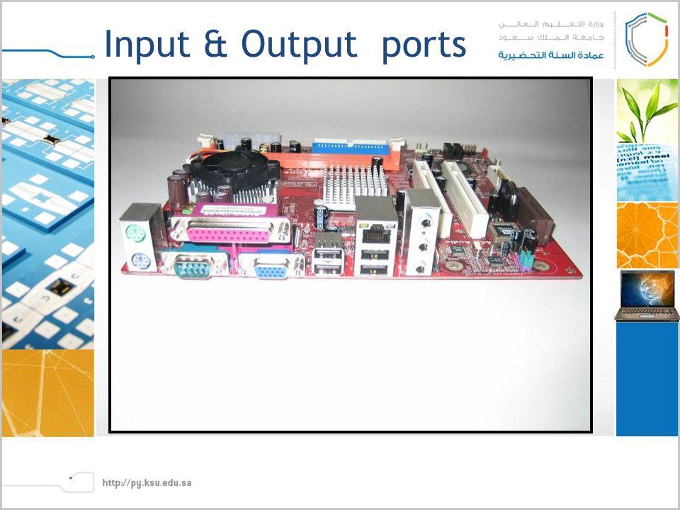 Input & Output ports