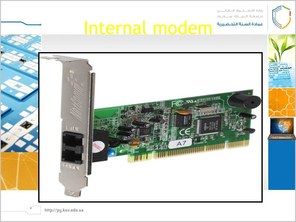 Internal modem