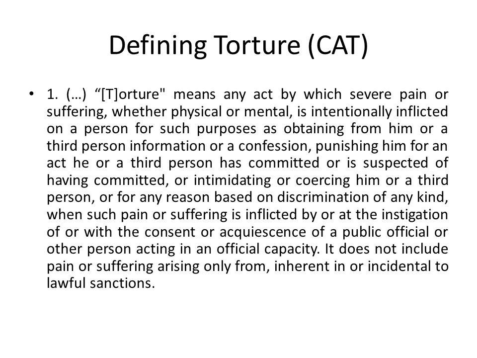 Defining Torture (CAT) 1.