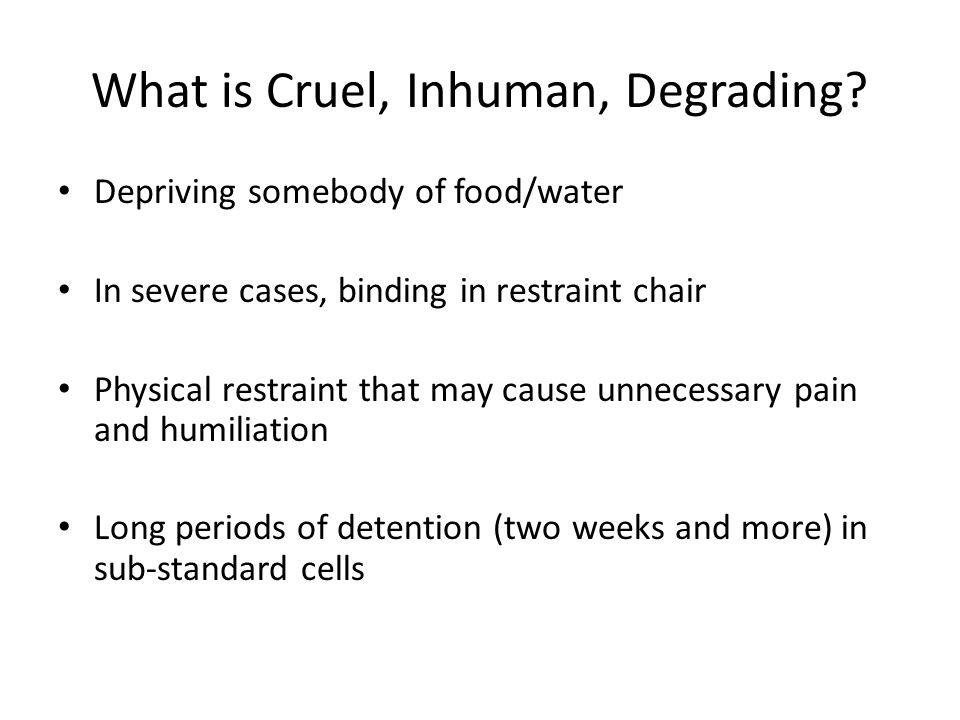 What is Cruel, Inhuman, Degrading.