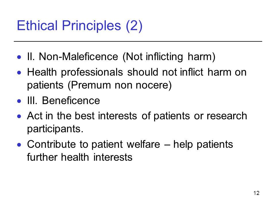 12 Ethical Principles (2)  II.
