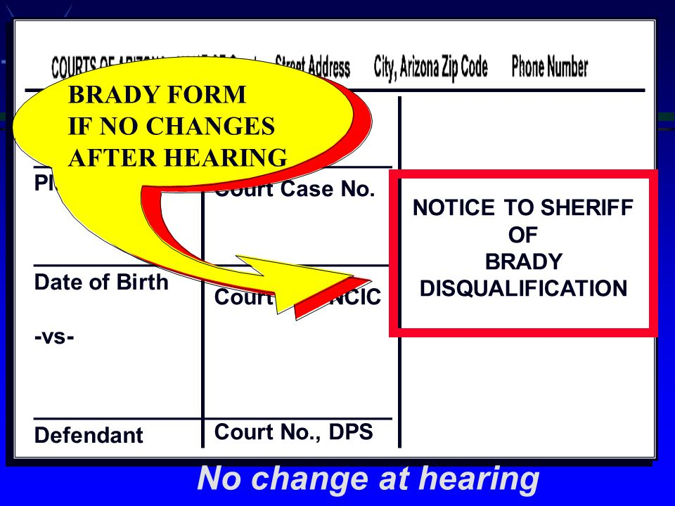___________________________ __ ___________________ Plaintiff ___________________ Date of Birth -vs- ___________________ Defendant Court Case No.