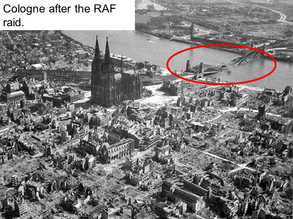 Cologne after the RAF raid.