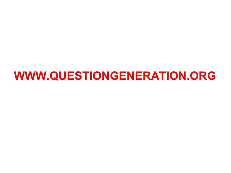WWW.QUESTIONGENERATION.ORG