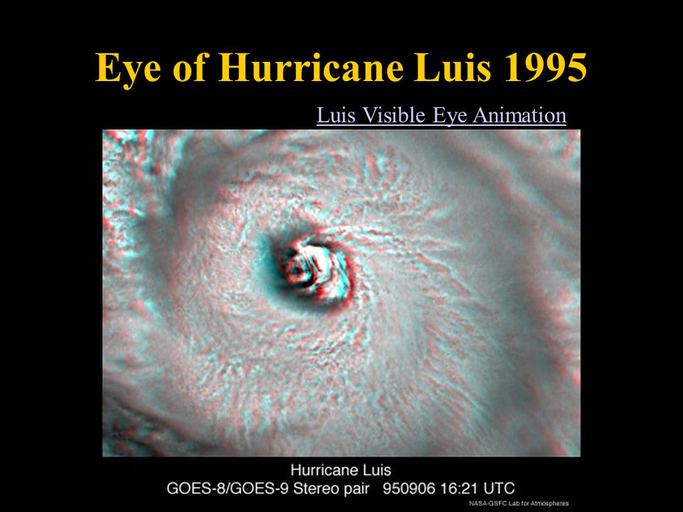 Eye of Hurricane Luis 1995 Luis Visible Eye Animation
