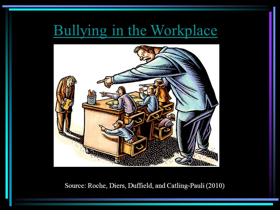 Bullying in the Workplace Source: Roche, Diers, Duffield, and Catling-Pauli (2010)