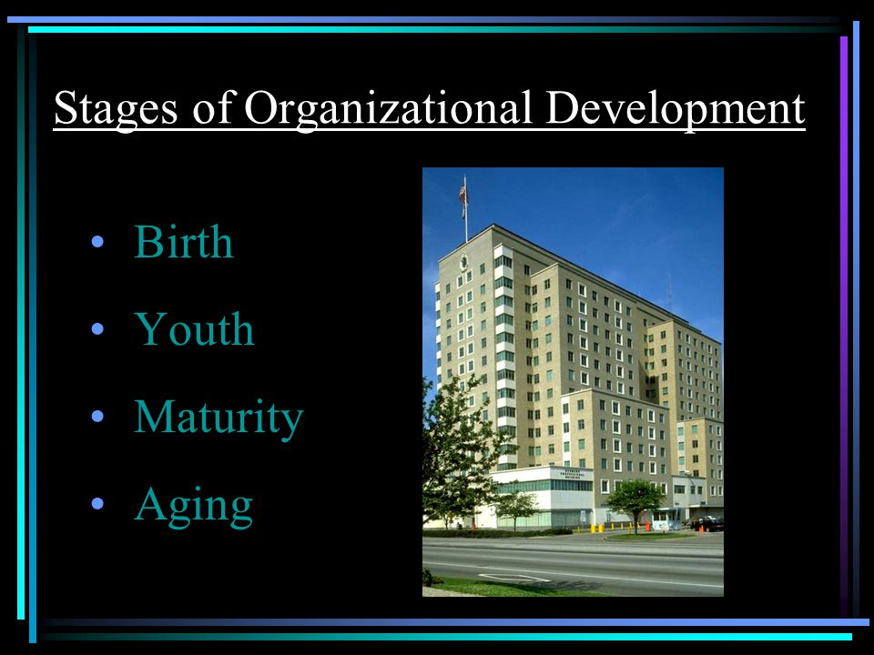 Stages of Organizational Development Birth Youth Maturity Aging