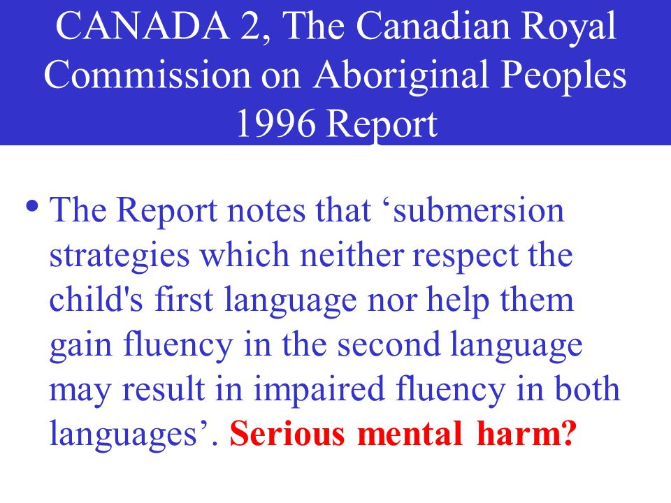 CANADA 1, Katherine Zozula & Simon Ford 1985 Report 'Keewatin Perspective on Bilingual Education' tells about Canadian Inuit 'students who are neither