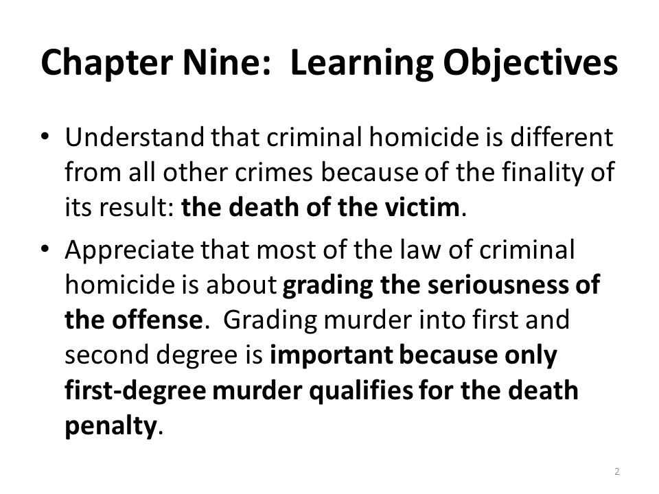 Actus Reus of First Degree Murder Voluntary act of killing many forms of killing Many statutes require heinous atrocious or cruel acts to accomplish the actus reus of first degree murder – Example: State v.