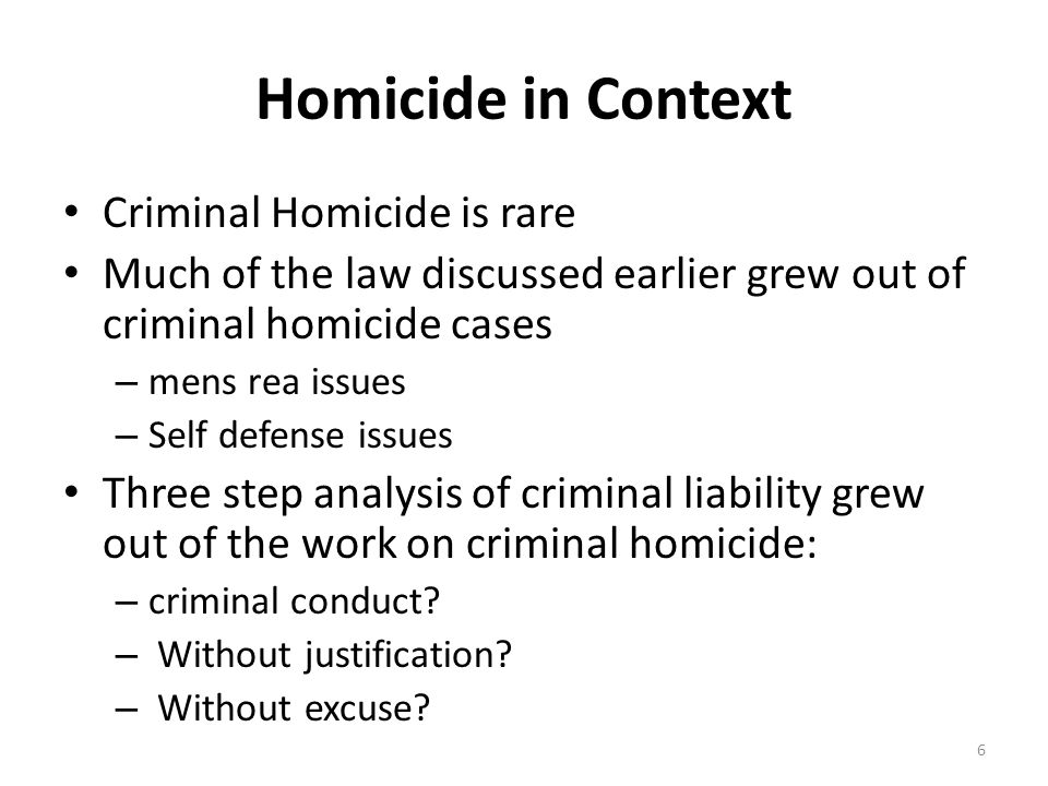 Felony Murder Unintentional deaths that occur during the commission of some felonies States vary as to what felonies are included— some list the felonies – See Maryland's Felony Murder Statute Variation regarding whether co-defendant's death can be basis for felony murder – Third party exception; resisting victim exception - People v Hudson (2006) 37
