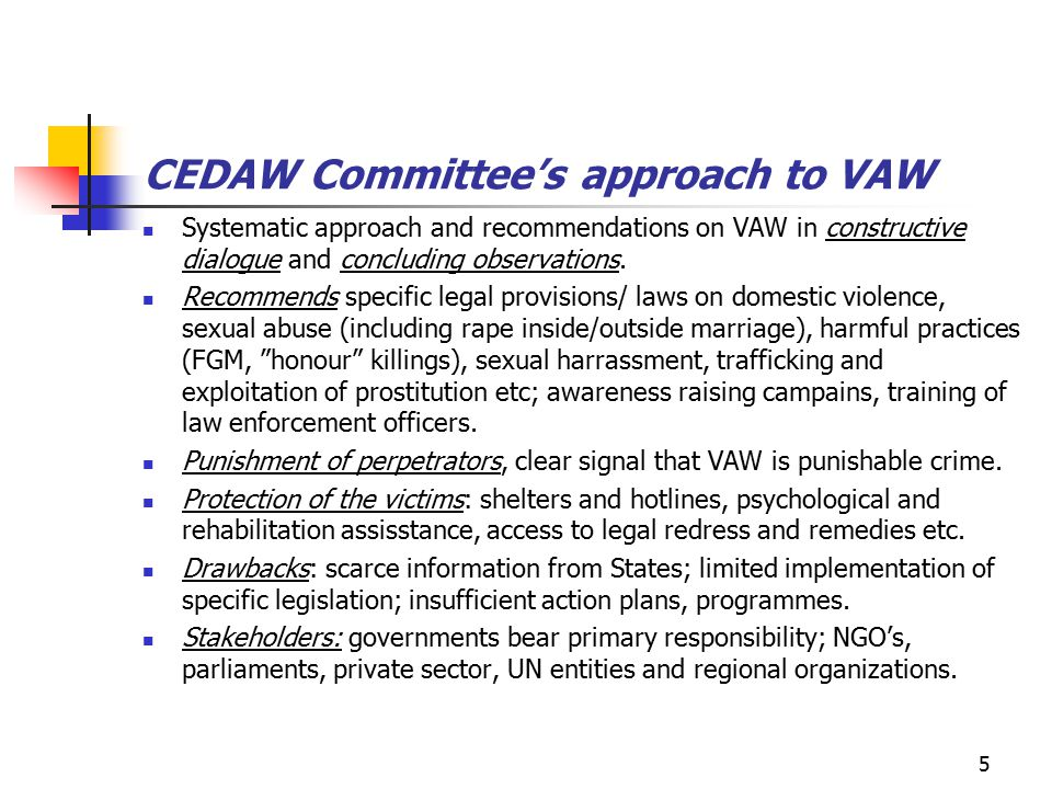 6 CEDAW and CRC conventions Comparative approach between the two conventions and cooperation are still at the beginning.