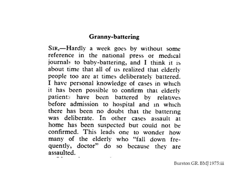 Burston GR. BMJ 1975:iii