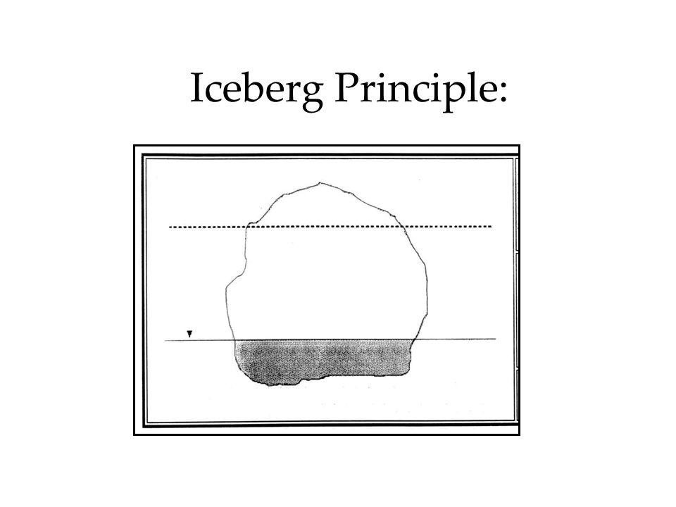 Iceberg Principle: