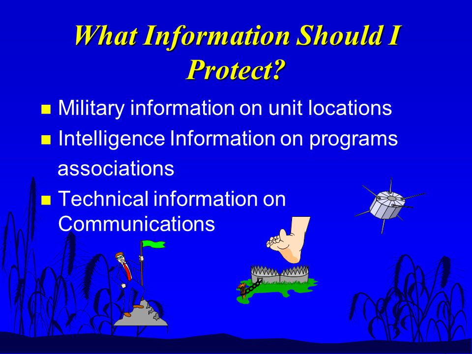 What Information Should I Protect.