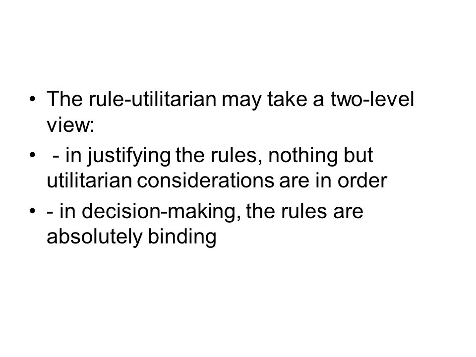 Brandt: contractual utilitarianism The utilitarian rules of war are the rules rational, impartial persons would choose as authoritative, given that they expected that their country at some time would be at war.