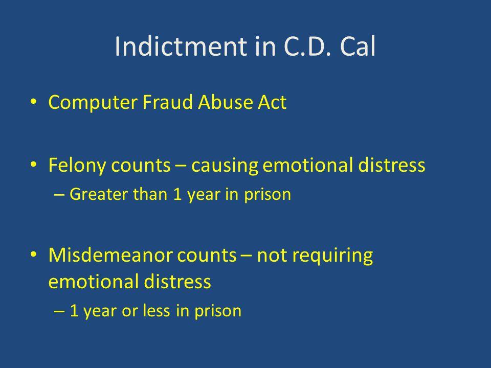 Indictment in C.D.
