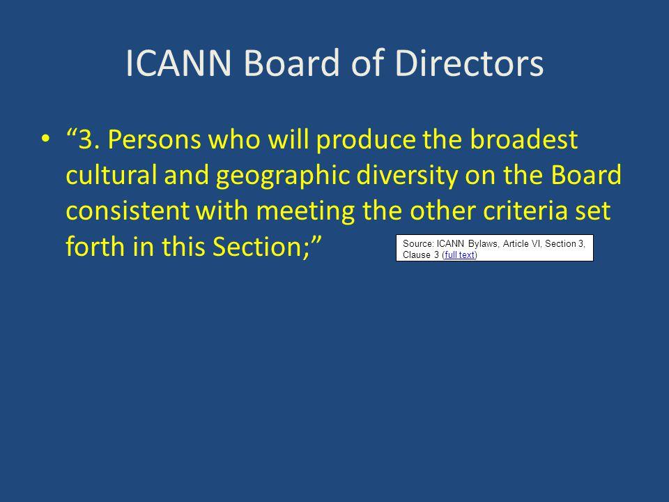 ICANN Board of Directors 4.