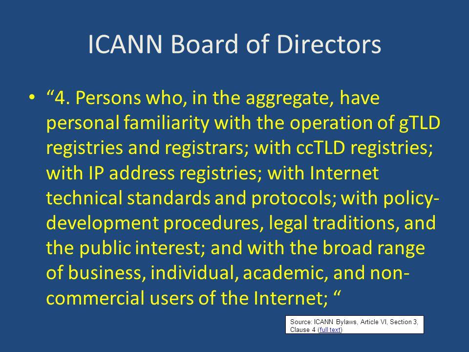 ICANN Board of Directors 5.