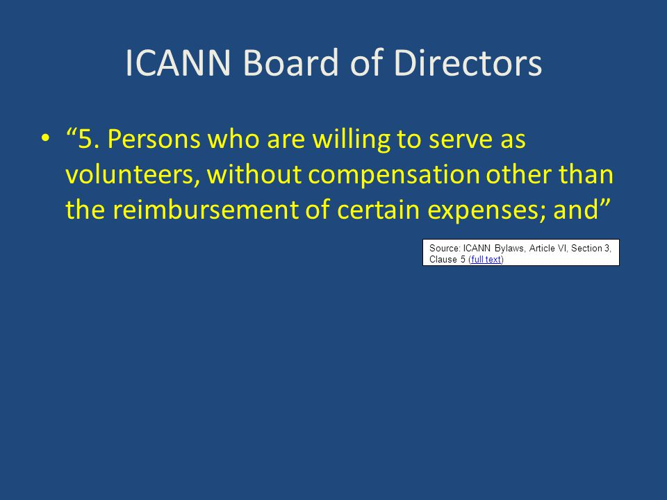 ICANN Board of Directors 6.