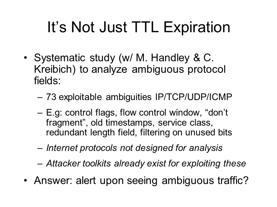 It's Not Just TTL Expiration Systematic study (w/ M.