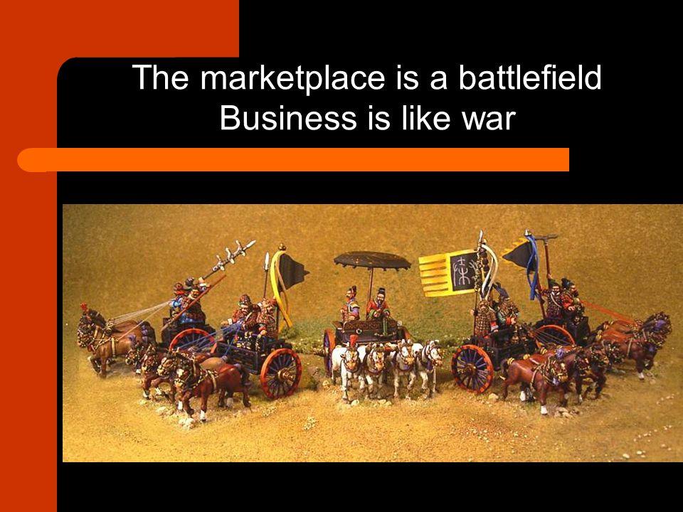 The marketplace is a battlefield Business is like war