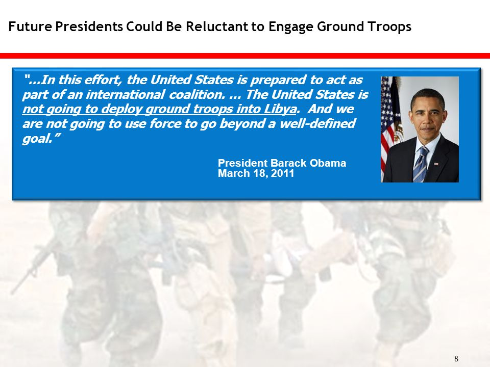 8 …In this effort, the United States is prepared to act as part of an international coalition.