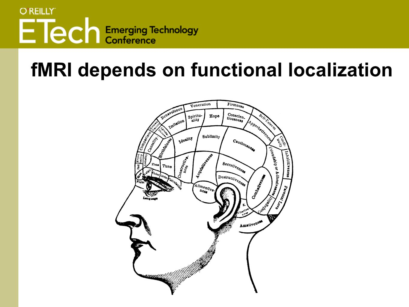 fMRI depends on functional localization