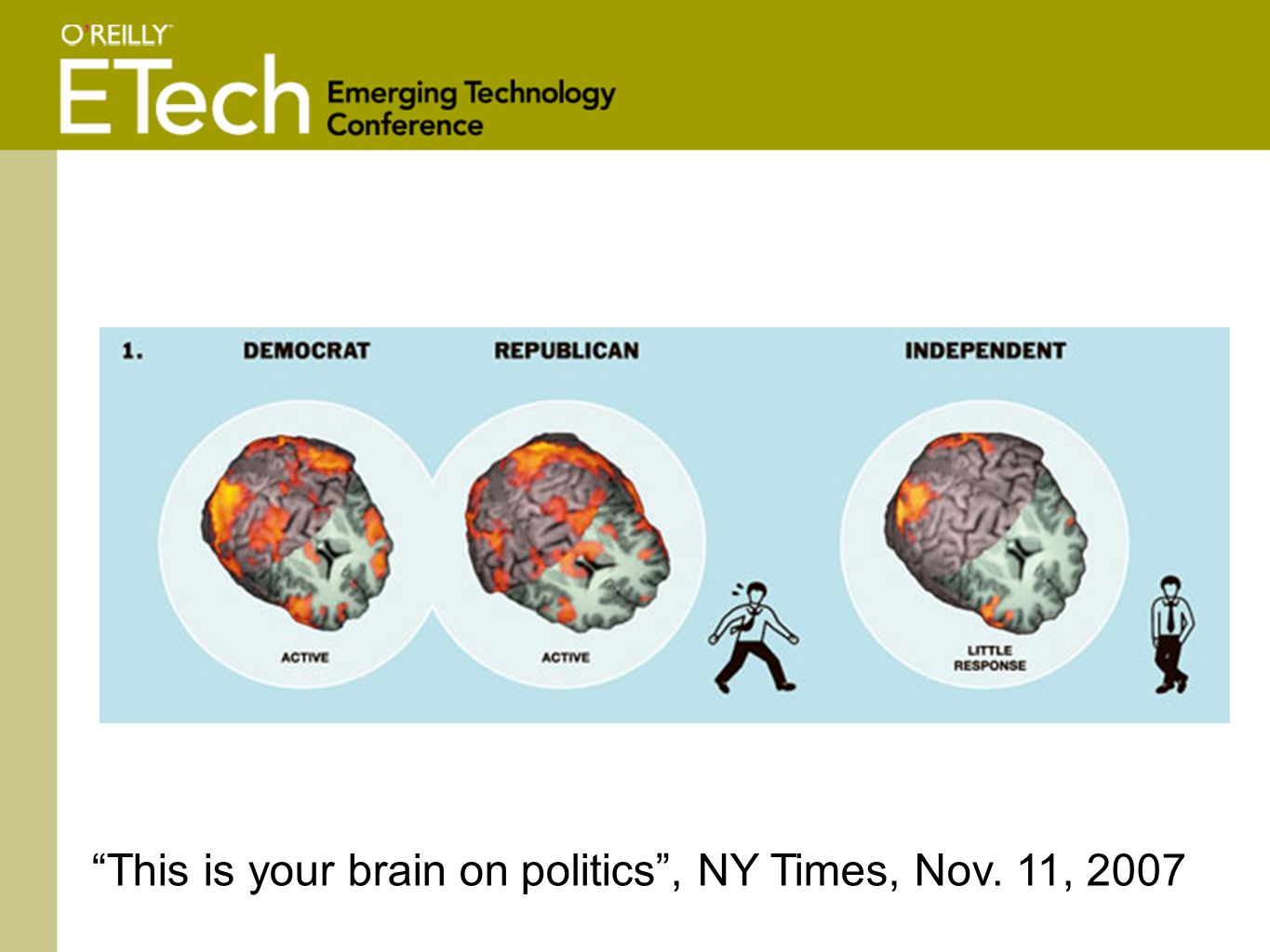This is your brain on politics , NY Times, Nov. 11, 2007