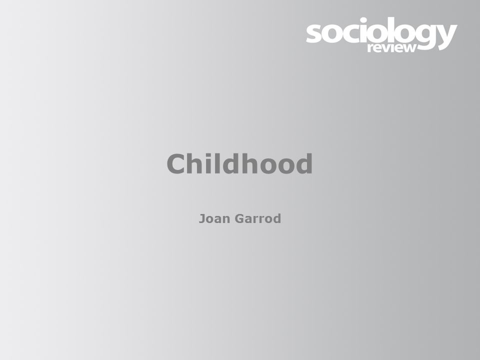 Childhood Joan Garrod