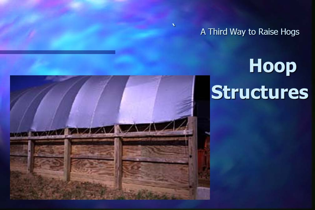 ` A Third Way to Raise Hogs Hoop Hoop Structures Structures