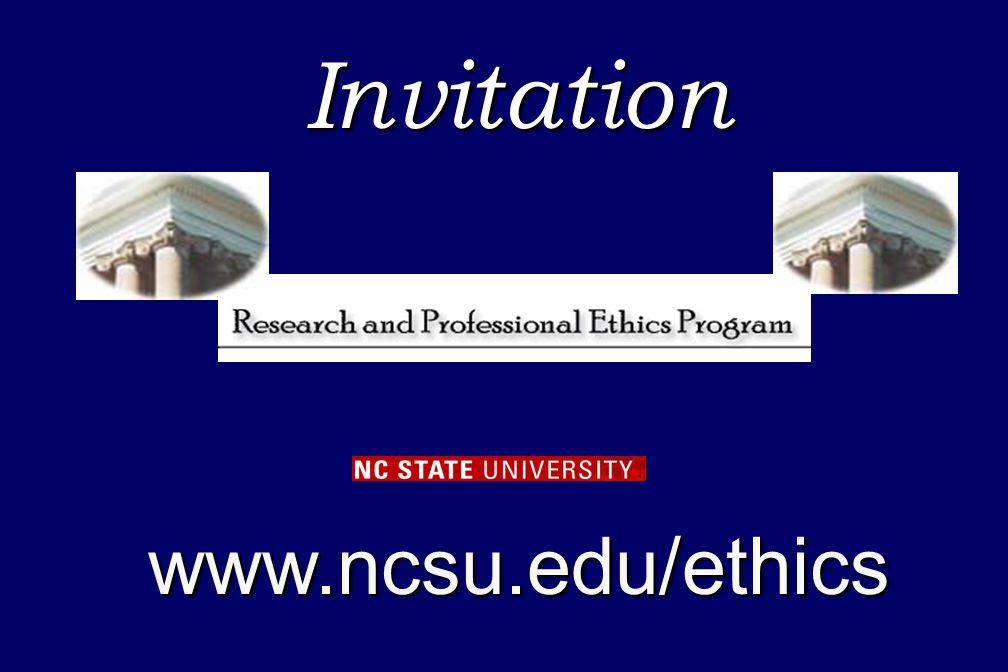 Invitationwww.ncsu.edu/ethics