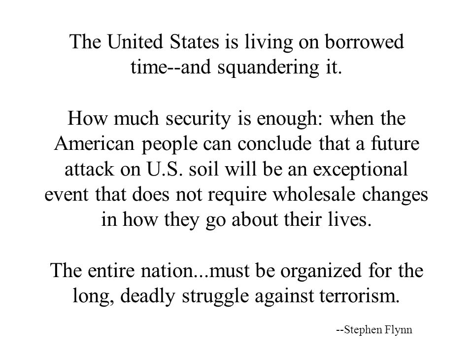 The United States is living on borrowed time ‑‑ and squandering it.
