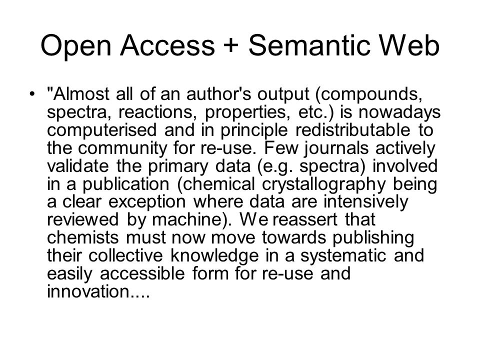 Open Access + Semantic Web