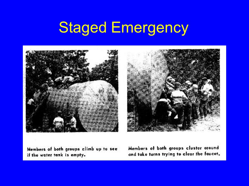 Staged Emergency