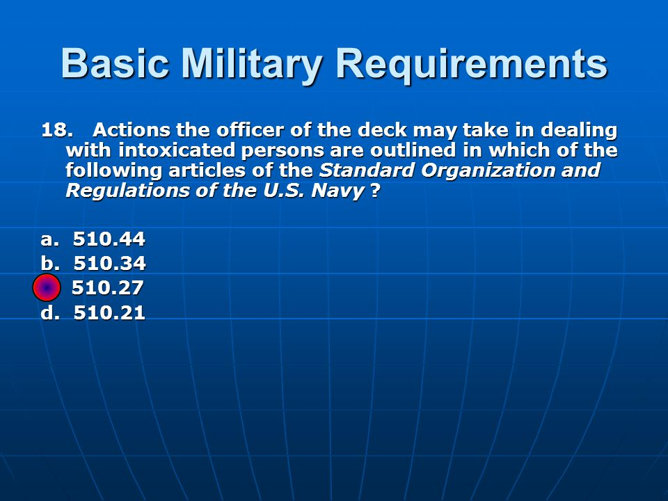 Basic Military Requirements 18.