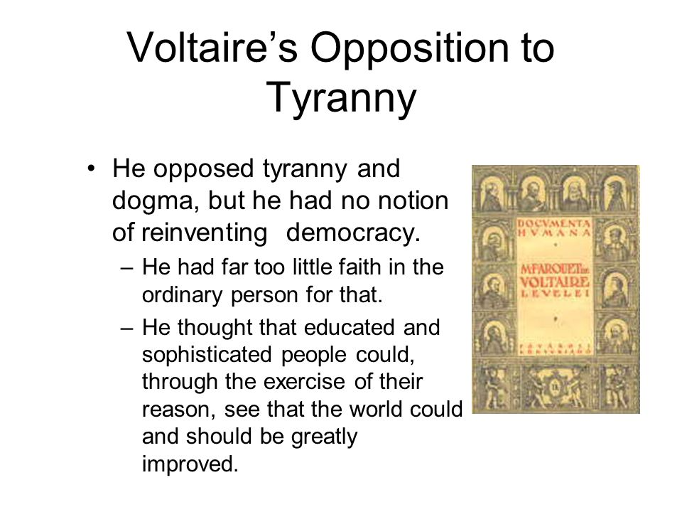 """Voltaire –spent a lot of time at the court of Frederick the Great of Prussia (Voltaire was the first to call him """"the Great"""") –corresponded with Cathe"""