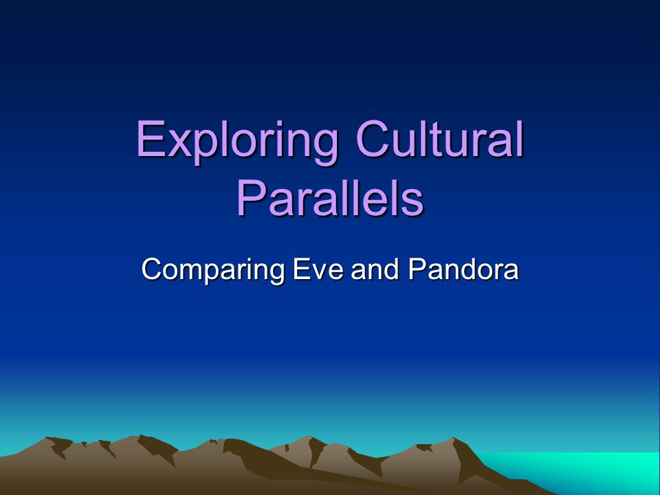 Creation stories reveal a great deal about a culture.