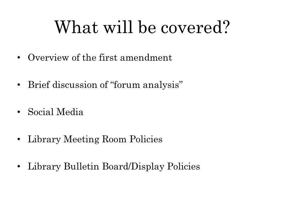 The First Amendment A Brief Overview