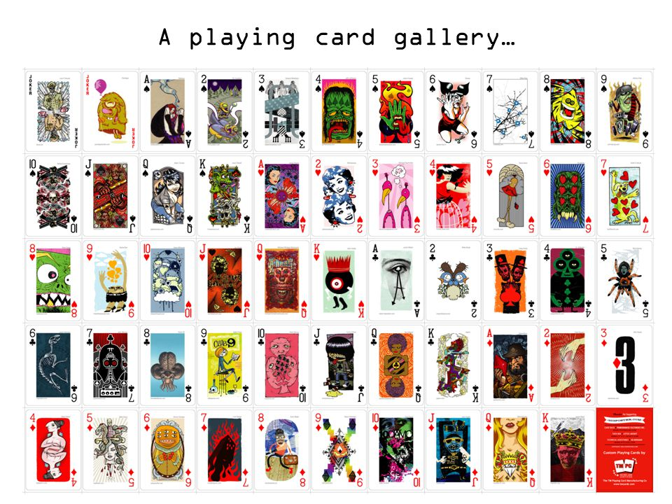 A playing card gallery…