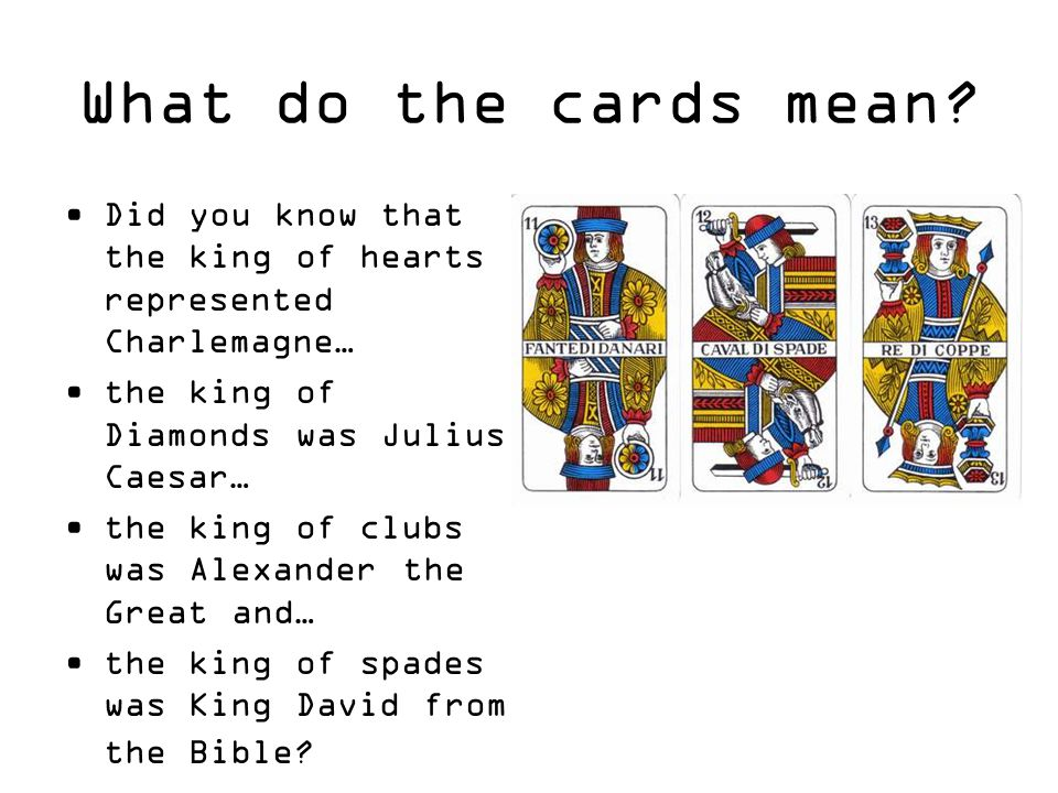 What do the cards mean.