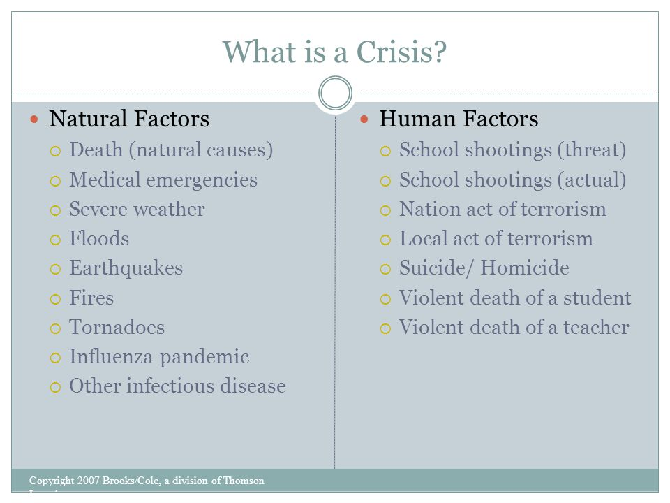 What is a Crisis.
