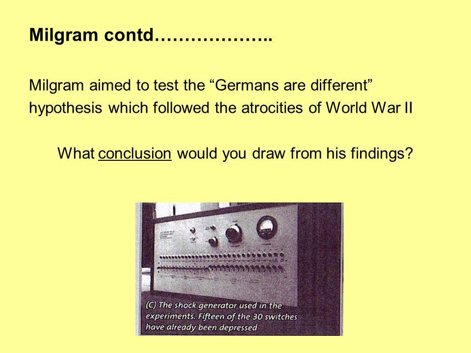 Milgram contd………………..