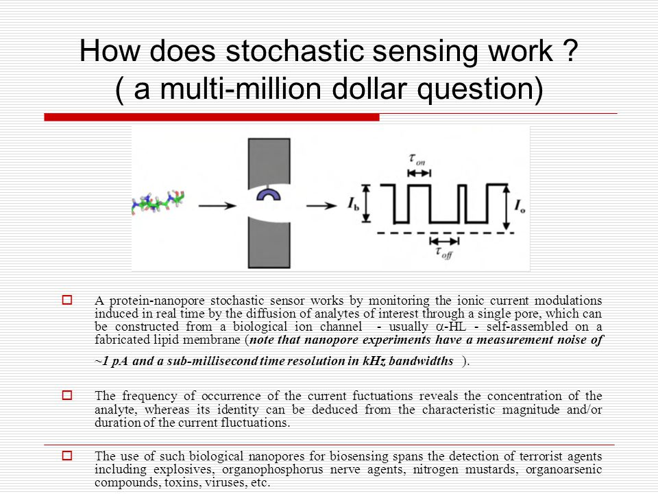 How does stochastic sensing work .