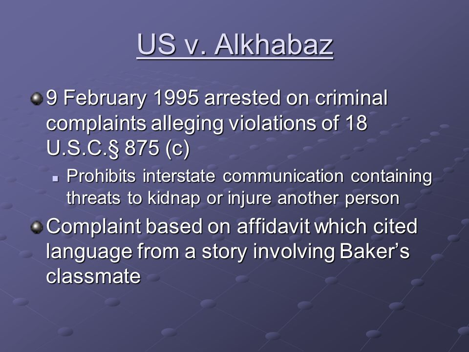 US v.Alkhabaz Text of story: Her eyes, barely human, begged him to stop.