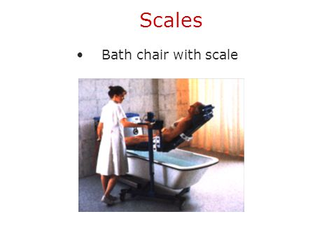Scales Bath chair with scale