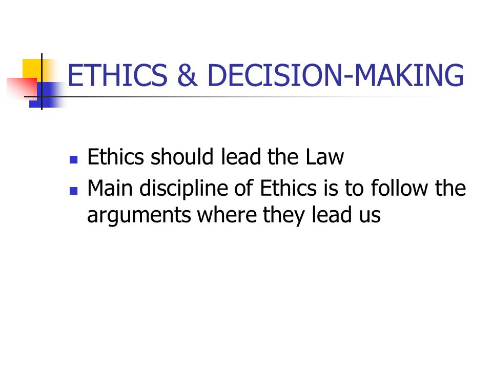 ETHICS & DECISION-MAKING Summary – Very Important 5.