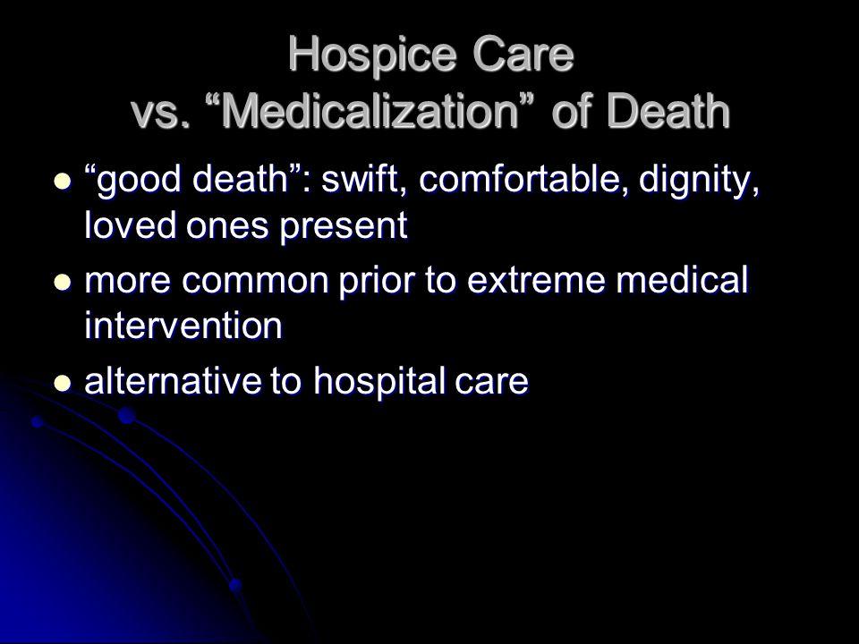 Hospice Care vs.